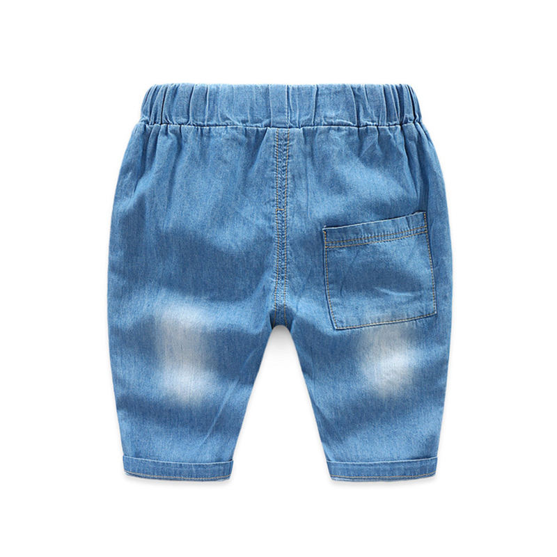 Brand New Summer Kids Casual Jeans Pants Boys Denim Cropped Trousers