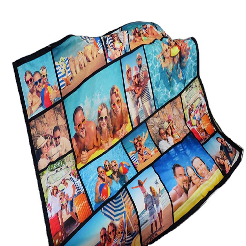 Custom Photo 100% Polyester Fleece Blanket Polar Fleece Blanket With Low MOQ