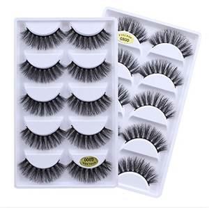 wholesale free sample G800 natural thick 3D false eyelash 5 pair private label false eyelash packaging box