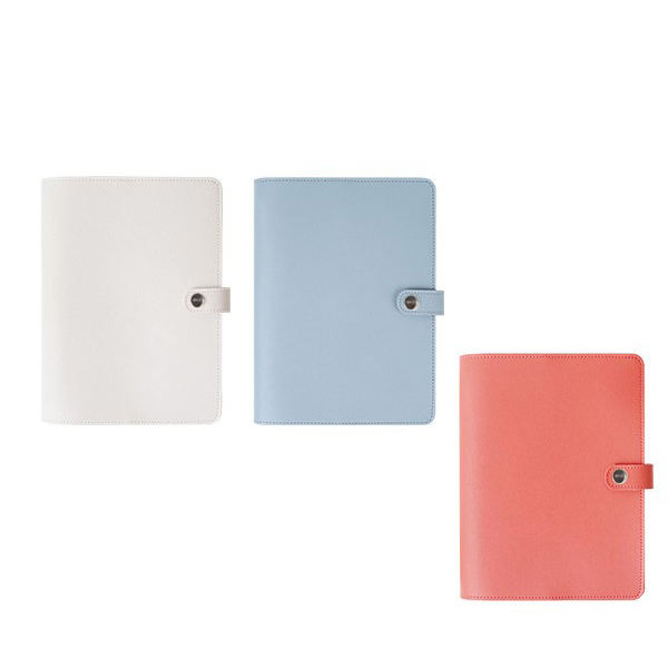 Custom 6 holes Ring Binder Color A5 PU Leather Promotional Planner Notebook with clasp