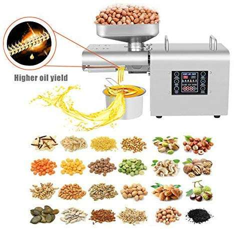 Food Grade 304 Stainless Steel Kitchen Nut Seeds Linseeds Oil Expeller Automatic Oil Press Machine Oil Press Extractor