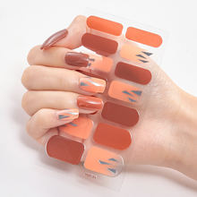 Colorful nail wraps DIY nails mixed type full nail stickers artifical nails