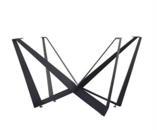 Factory Price Black Powder Coating Modern Adjustable Furniture Legs Metal Steel Black Coffee Dining Table Legs Table Base