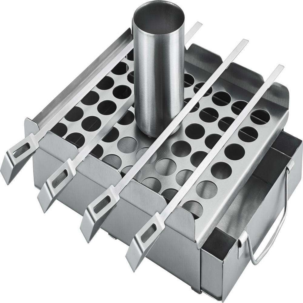 Rvs 5 In 1 Bbq Set <span class=keywords><strong>Bacon</strong></span> Rack