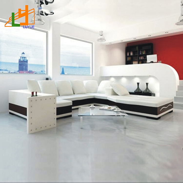 Un buon design per il tempo libero in pelle bianca divano componibile, hotel di alta qualità <span class=keywords><strong>moder</strong></span> divano set