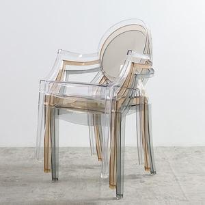 Antieke Houten Chaise Lounge Stoel Met Acryl Benenwoonkamer