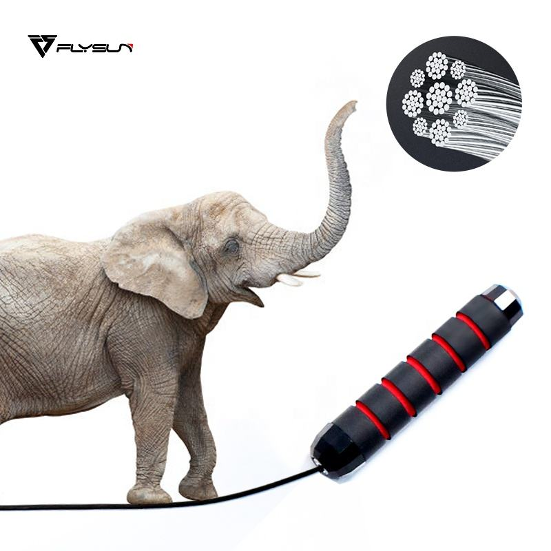 2021 Custom Adjustable OEM 2.8CM PVC Heavy Skipping Fitness Cotton Handles Jump Rope With Logo