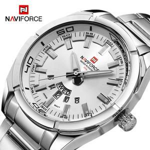 Naviforce 9038 Men Quartz Watches Luxury Sport Waterproof Watches Men's Stainless Steel Wristwatches
