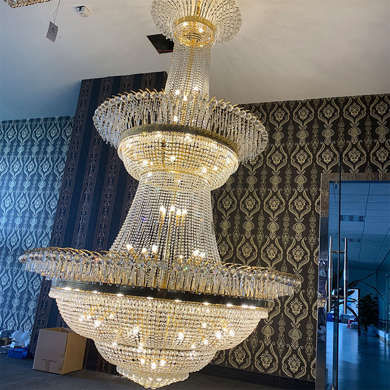 customize large modern luxury pendant crystal lighting chandeliers for Villa