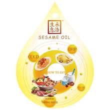Pure Cold Pressed Sesame Oil in glass bottle packaging China Origin