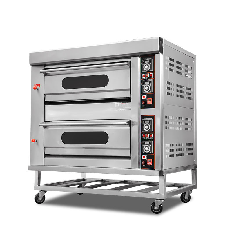 Chubao KB-20 2 Tier 4 Tray Customizable Natural Gas Standard Gas Deck Oven