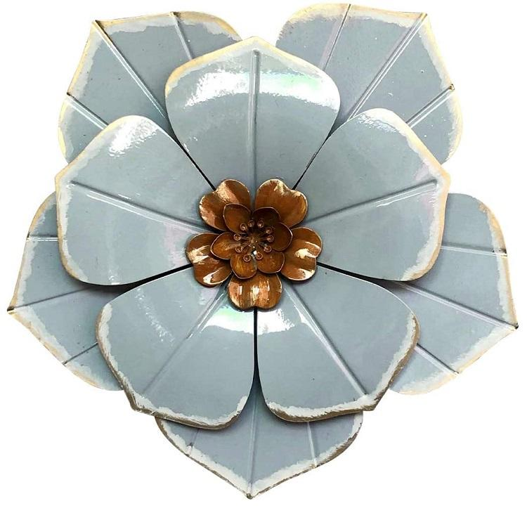 Amazon Hot Selling Metal Flower Wall Art Decor Hanging for Indoor Outdoor Home Bedroom Office Garden