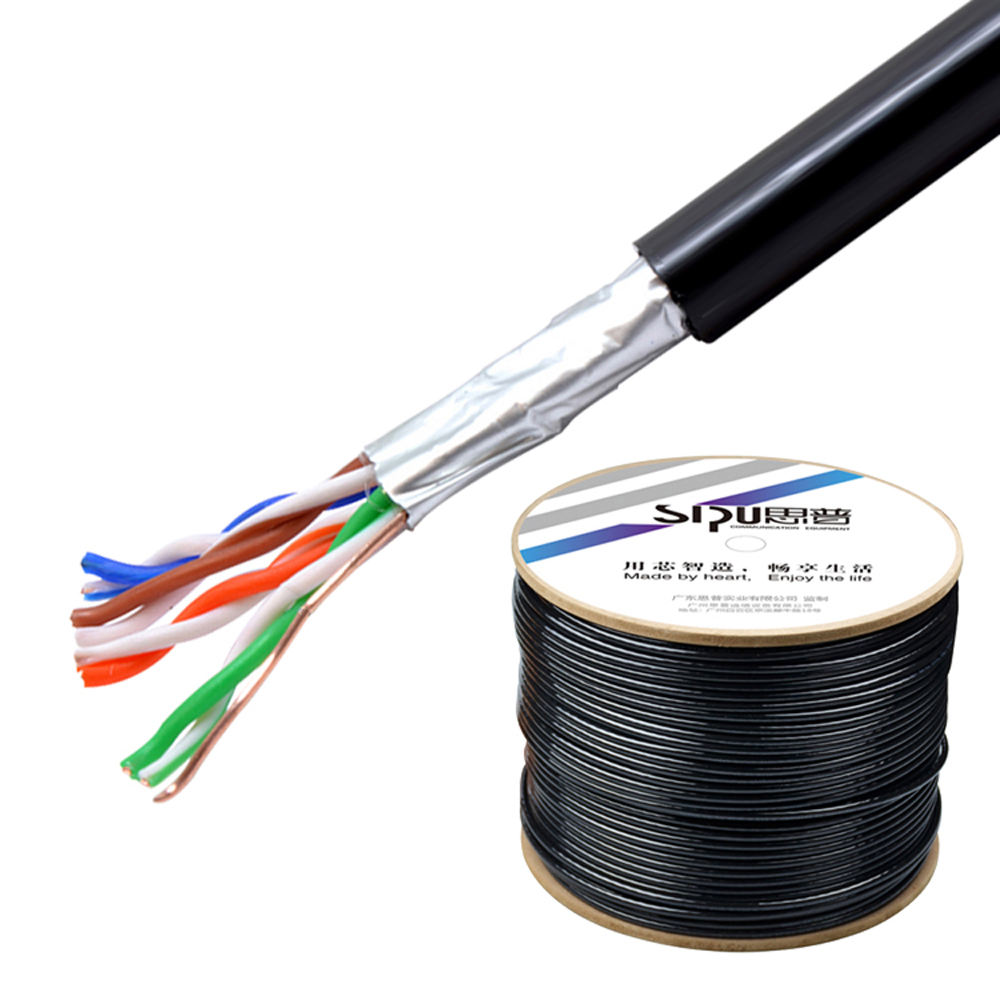 SIPU wholesale 1000ft cat5 cat 5e cat5e pvc outdoor network lan cable