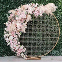 IFG artificial round fower arch for outdoor wedding backdrop flower decoration