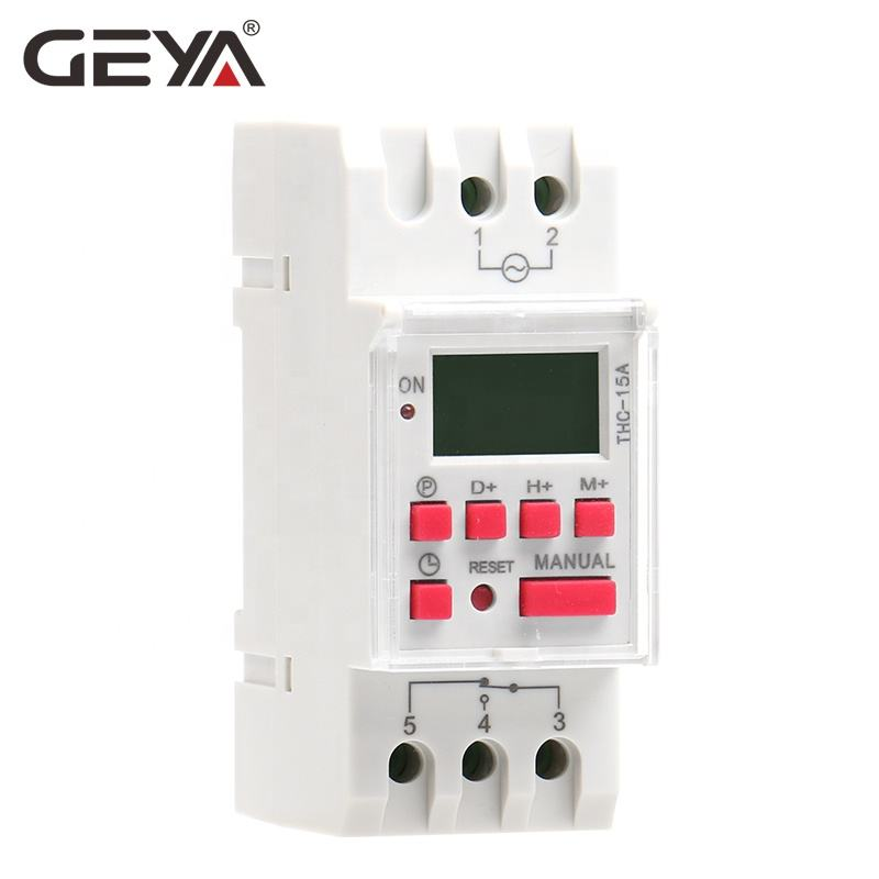 GEYA THC15A Electronic Timer 220v LED Digital Programmable 15 amp Time Switch With Battery Lock Function