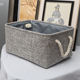 Household High Quality Foldable Big Rectangular Collapsible Organizer Bin Carry Handle Fabric Linens Storage Basket