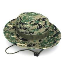 ACE camouflage adjustable bucket hat outdoor camouflage bucket cap with strings wholesales