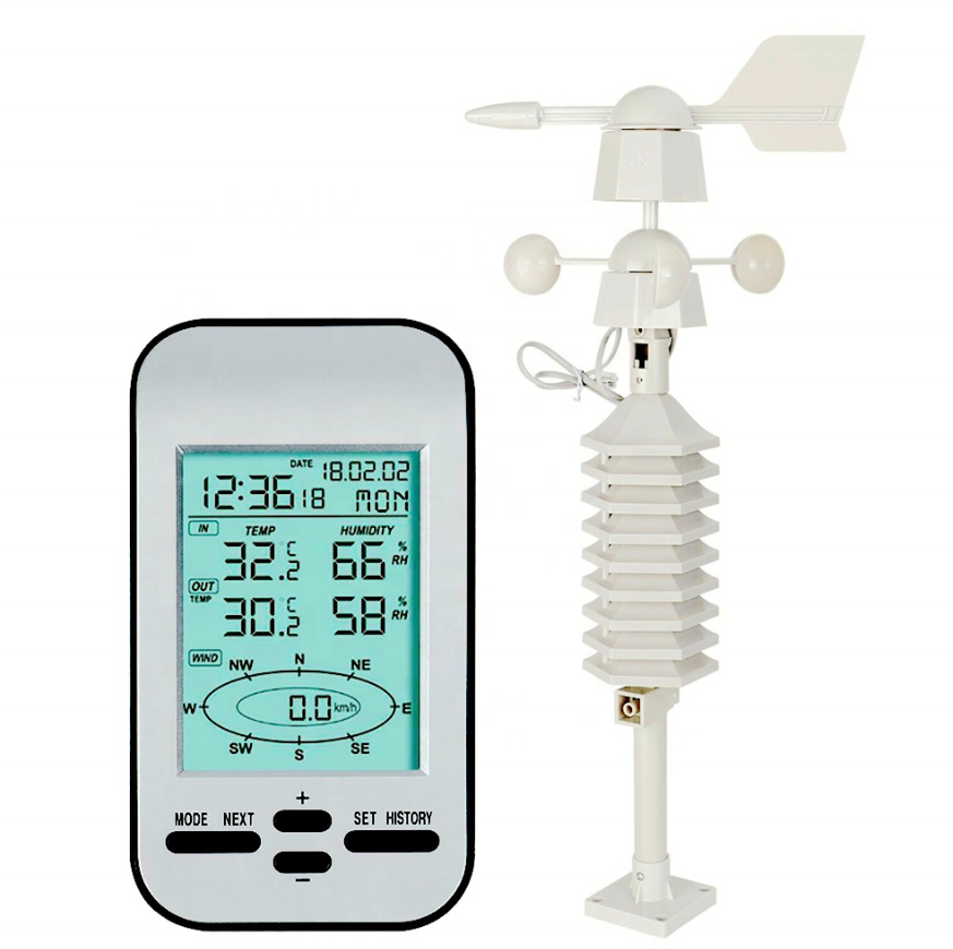 RD-HWS-03 Outdoor Home use 433MHZ WIFI Wind Direction Speed Thermometer wireless Digital Home weather forecast station