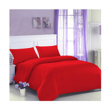 ready made Hot sale high quality solid color quilt cover set of 3