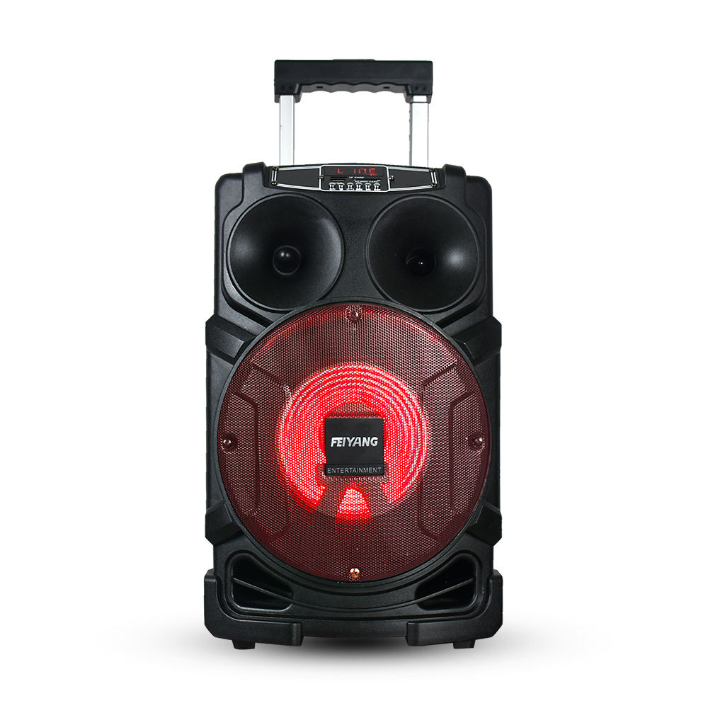 2021 Feiyang 8'' woofer come with 2 wireless Mic and 1 remote control FG08-01 wireless Karaoke Trolly Speaker