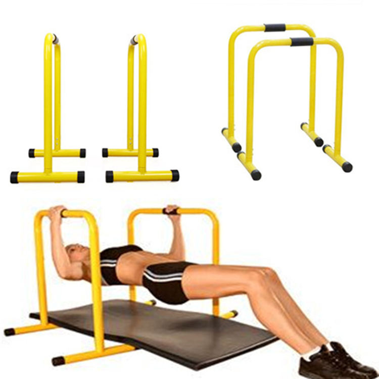 Yellow Adjustable Door Gym Horizontal Fitness Pull Up Parallel Bar Dip Station