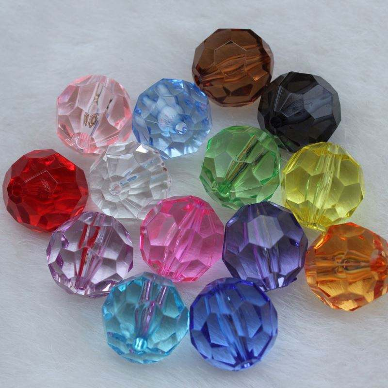 Multi Sizes Cute Beautiful Clear Mix Colors Round Cute Cut Faceted Beads Diamond Crystal Bead for Bracelet Making