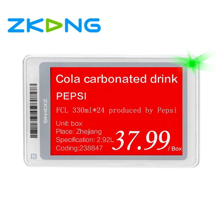 Zkong Hot sale 2.7 inch E-ink Display ESL Retail Electronic Shelf Label