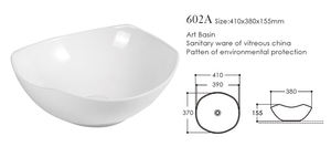 European style china supplier bathroom ceramic wash basin