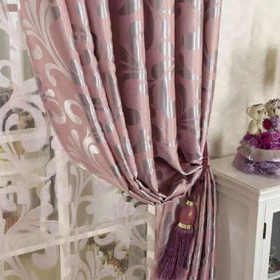 cationic jacquard blackout curtain fabric window curtain valance
