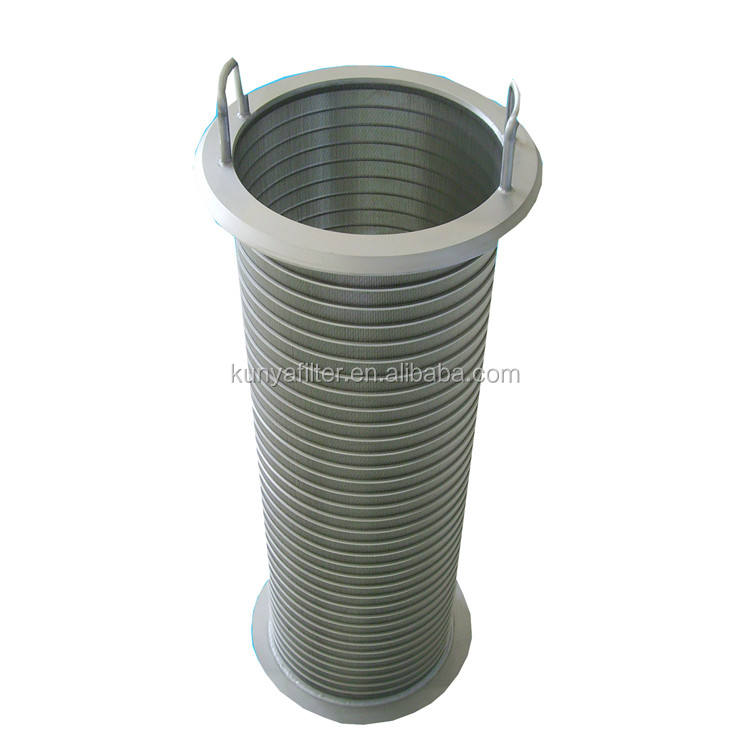 wedge wire screen filter mesh Wedge vee wire slot well screen nozzle stariner filter