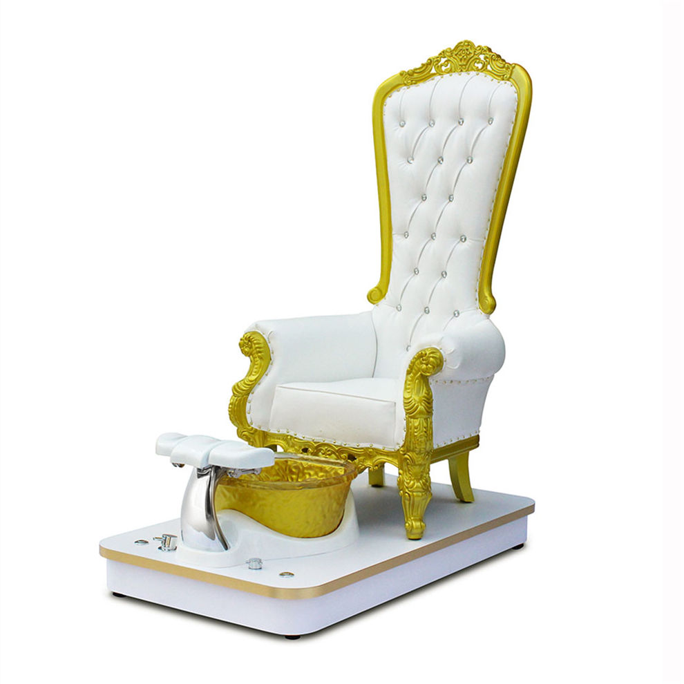 Wholesale Salon Luxury Royal Discharge Pump Modern Pipeless Whirlpool System Foot Spa Throne Queen Pedicure Chair For Sale