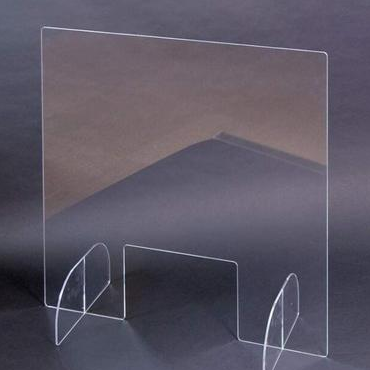 Plexiglass barrier Acrylic Sheet front Protection Desk Divider Office Room Isolation Board