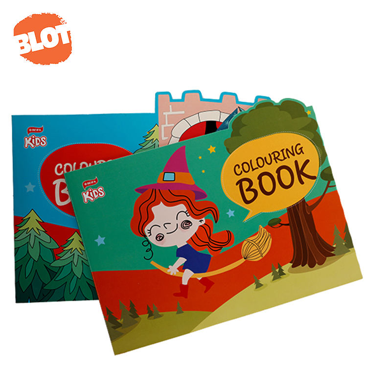 BLOT BRNB00001 Wholesale Blank Drawing Sketch Coloring Book For Kids