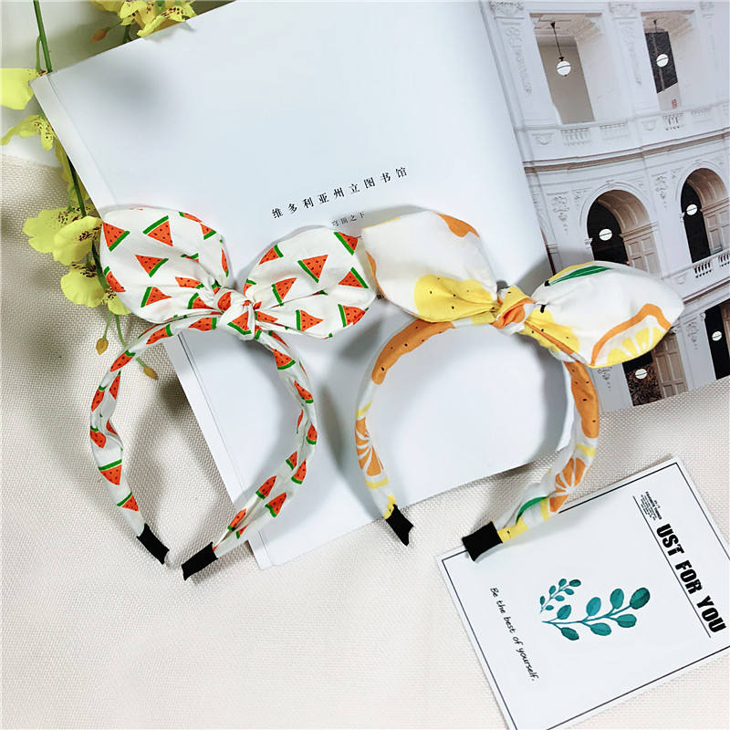 Wholesale Korean Fashion Women Hair Accessories Headband Custom Women Fabric Cotton Tie Knot Hairband For Baby