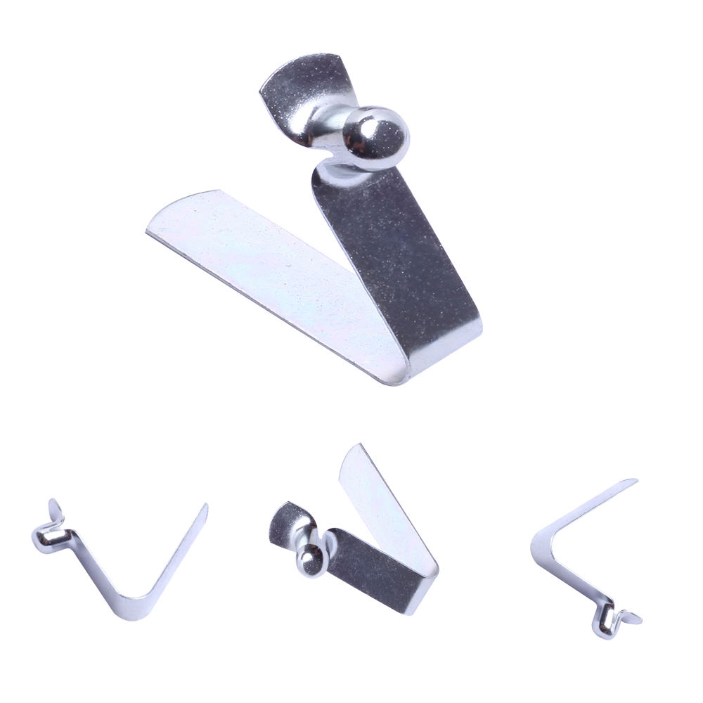 Manufacture metal tube button lock spring clips for 25mm clamps