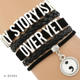 Semicolon Theme My story lives on My Story is not over yet Mental Health Suicide Depression Awareness Leather Bracelets