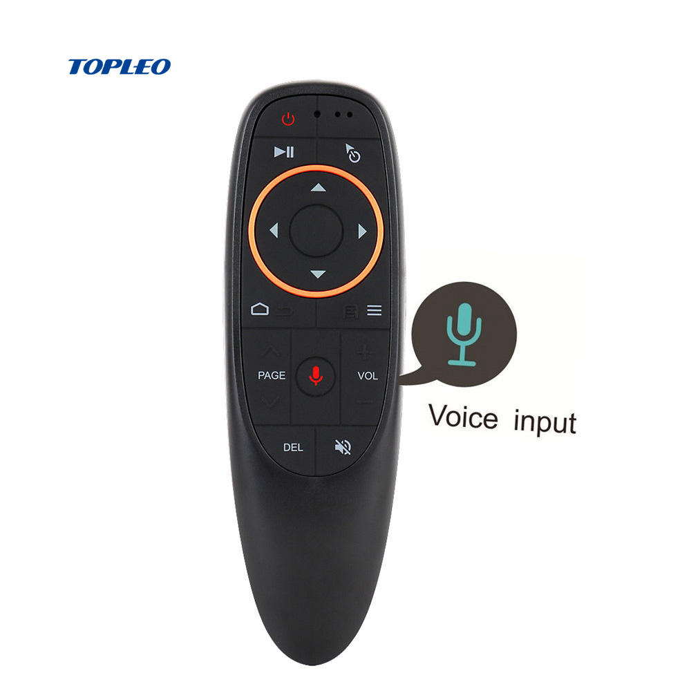G10 2.4GHz wireless air mouse gyroscope voice remote control USB receiver HV