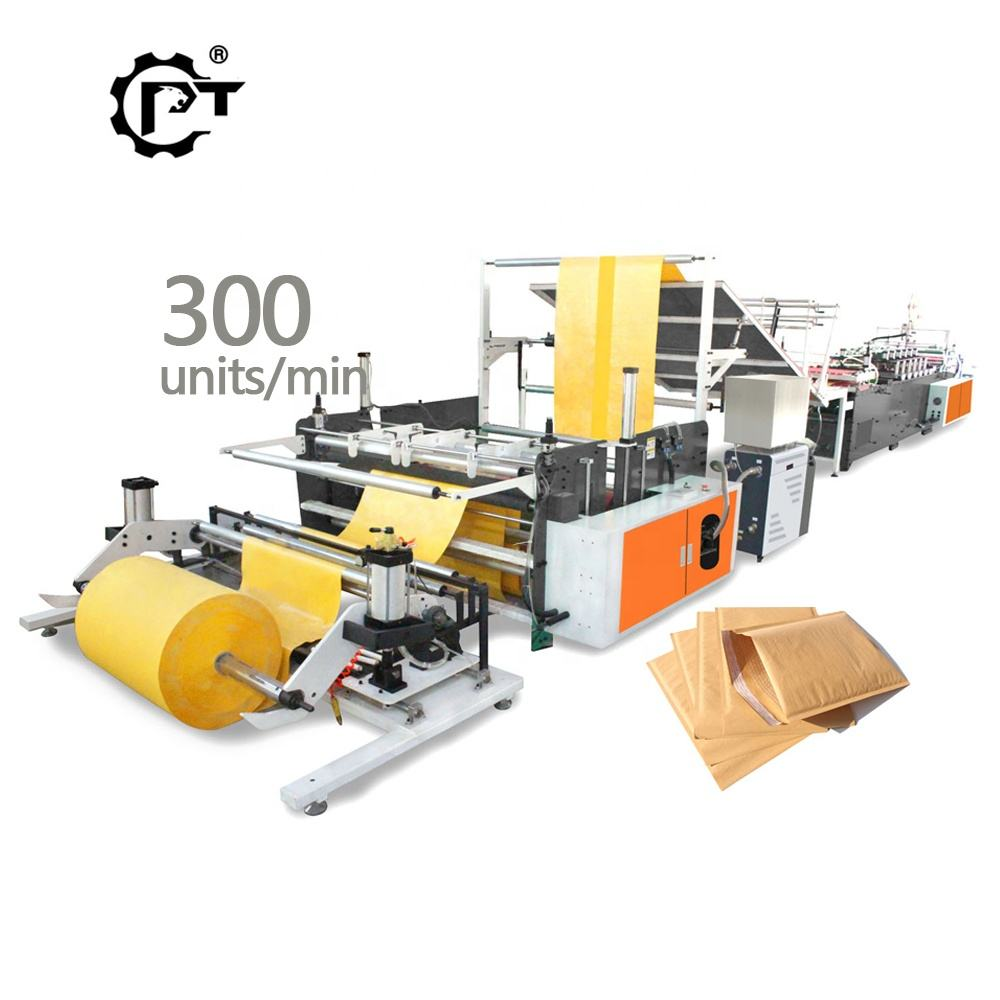 2020 Kraft Poly film laminated air bubble padded bag mailer envelope making machine
