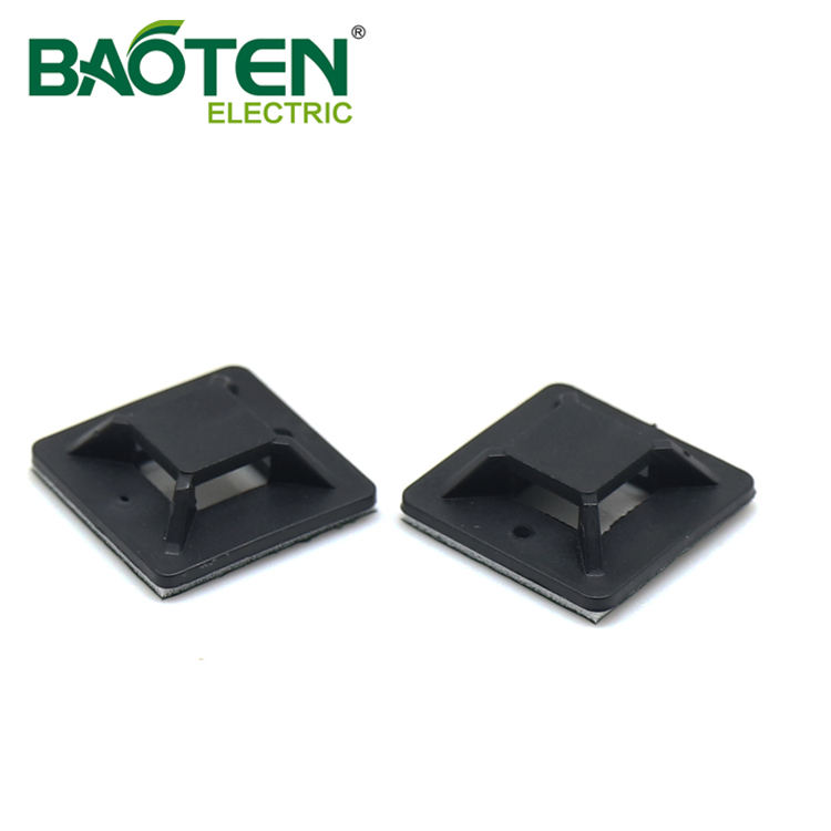 BAOTENG BT high quality plastic Cable Tie Mounting Base push nylon screw Tie Mounts