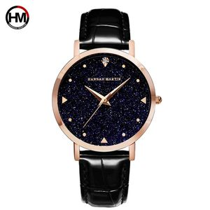 Hannah Martin XKZJW Japan Movt Quartz Sexy Ladies Watches Leather Belt Woman Starry Sky Watch Waterproof