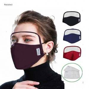 Best Selling Face Maskes With Eye Shield Anti Droplets With PM 2.5 Filter Washable Mouth Guard Eye Protection Mascarilla