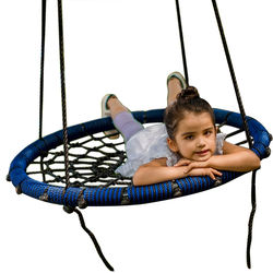 2020 NEW Arrivals 80cm Fully Assemble Saucer Spinning Outdoor Tree Round Rope Spider Web Swing