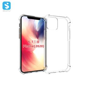 trend 2020 transparent tpu case 1.5mm for iphone 12 case shockproof for iphone 12 pro max crystal case