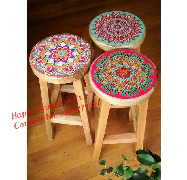Industrial Mandala tables in Advance 2020 | Furniture, Painted stools, Diy furniture (Set of 3)