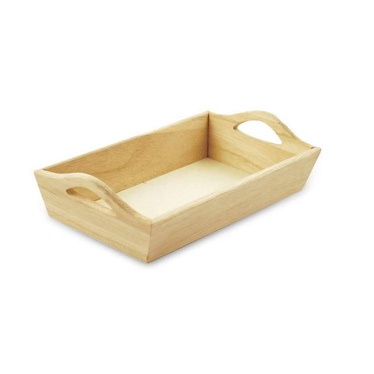 Factory quality customized paintable unfinished solid wooden tray unfinished