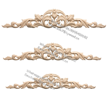 Real wood  furniture appliques Solid Wood Style  ornament wooden onlays  for cabinets