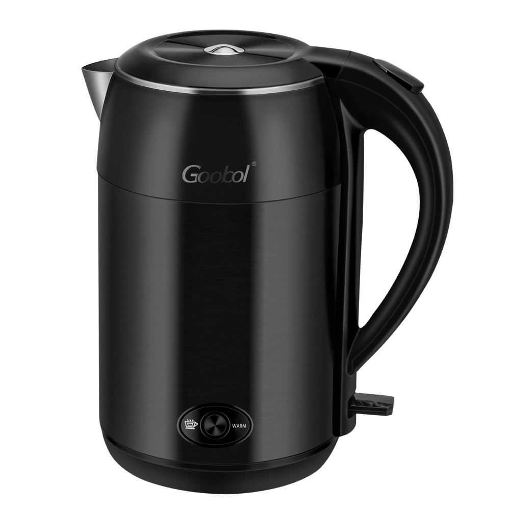 Chinese Hotel Kitchen Appliance Unique Stainless Steel Water 1.8L Double Wall Electric Kettle