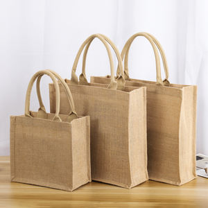 eco friendly tote canvas big bag durable laminated jute bag shopping tote bags with custom logo
