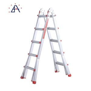 Portable 5m 6m 7m telescopic metal aluminum step ladder
