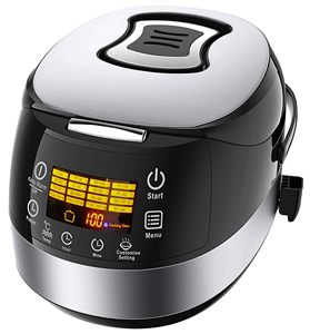 Programmable All-In-1 Multi Cooker, Rice Cooker, Slow Cooker, Steamer, Tumis, yogurt Pembuat Stewpot
